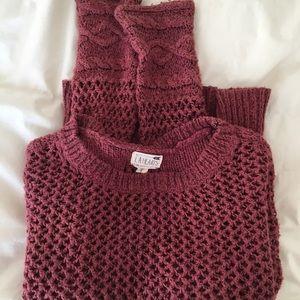 Soft knit pink sweater